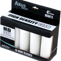 Axus Décor – Mini rulli in schiuma, confezione da 10, colore: Bianco