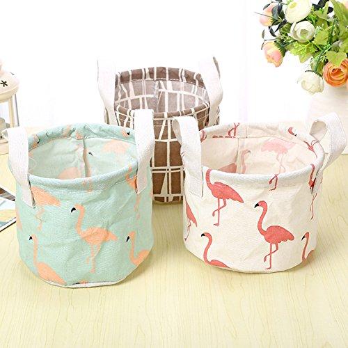 iTemer Storage Bag Home Tessuto Impermeabile cesta portaoggetti Portatile Cotone Cestino portaoggetti 5