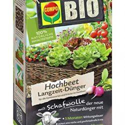 Compo Fertilizzante per Bio, aiuola rialzata con Lana di Pecora 750g, Verde