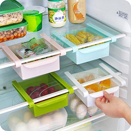 Uzinb Multi Function ABS Refrigerator Storage Box Sliding Drawers Design Storage Box 4