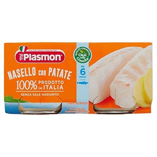 Plasmon Omogeneizzato di Pesce di Nasello e Patate – 160 g
