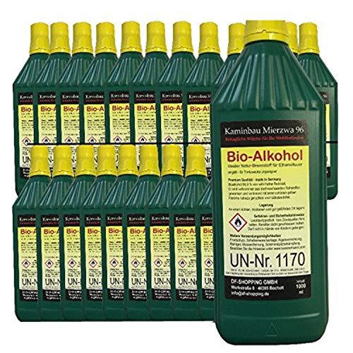 24 litri di High-Performance Bio-Etanolo / Con la tutela dei minori e riempimento ugelli ad ogni bottiglia