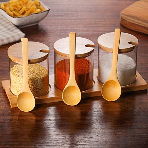 BESTonZON 6 Pezzi condimento Cucina cucchiai di Legno Condimenti Scoop Piccolo cucchiaino Cucchiaino da caffè al Miele 6