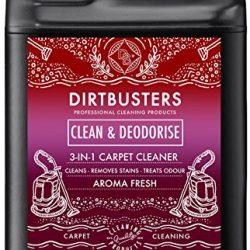 Dirtbusters Clean & Deodorise, prodotto per la pulizia di tappeti e tappezzeria con sistemi a estrazione, aroma fresco, 3-in-1 concentrato, con oli essenziali di geranio e camomilla