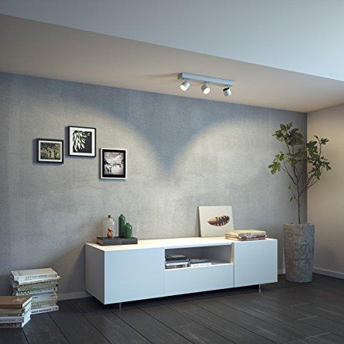 Philips Lighting Star Lampada 3 Faretti LED Integrato Orientabili, Alluminio, 3 x 4.5 W 5