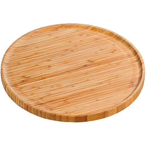 Kesper-Piatto da Pizza, in bambù, Colore: Marrone, 32 cm