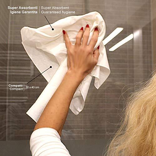 MEDICAL SUD PROFESSIONAL 50 Panni Asciuga Monouso in Non Tessuto Assorbente Morbido e Resistente Cm 30 x 40 Made in Italy 5