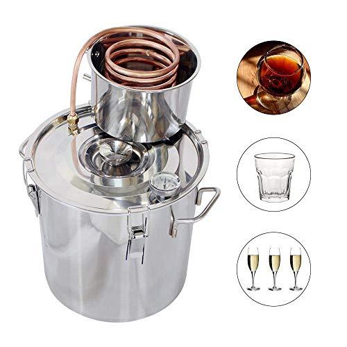 DCHOUSE – Kit per la produzione di vino, 20 l, 2 vasi, in acciaio INOX, distillatore per alcol Moonshine, caldaia con termometro 3