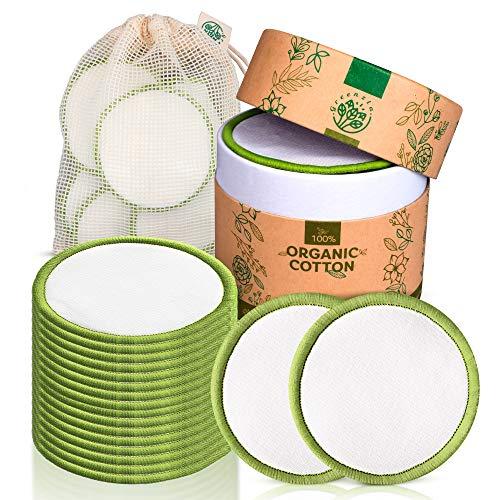 16 Dischetti struccanti lavabili riutilizzabili in bambù morbidi per pulizia di tutti i tipi di pelle sacchetto cotone per lavaggio e sacchetto cotone da viaggio Ecosostenibili Zero Waste Idea regalo 2