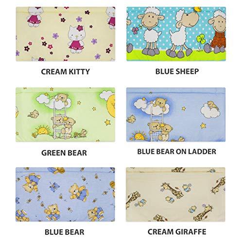 BlueberryShop Rivestimento Lettuccio   150 x 35 x 4 cm   Progettato per bambini da 0 a 3 anni   100% cotone   Pecora Blu 8