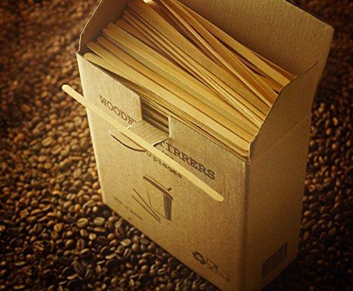 GreenFeel Palette di legno per caffè e tè, 178mm, per bicchieri di carta, per bevande calde e da asporto, 1000 pezzi 3