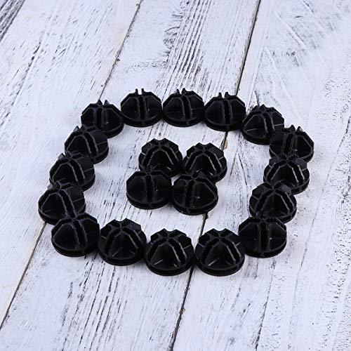 Vosarea, 20 connettori in plastica, per telai tubolari metallici di armadietti cubici (nero) 7