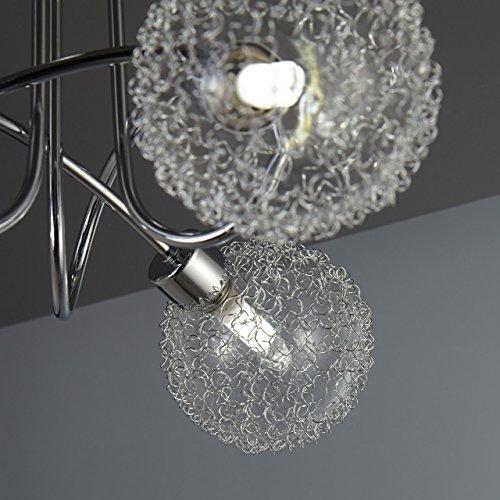 Lampada da soffitto a LED per soggiorno o salotto con 3 faretti I plafoniera moderna fantasia a braccia intrecciate con motivo a filo di ferro I include 3 lampadine da 3,5W I 230V I G9 I IP20 4