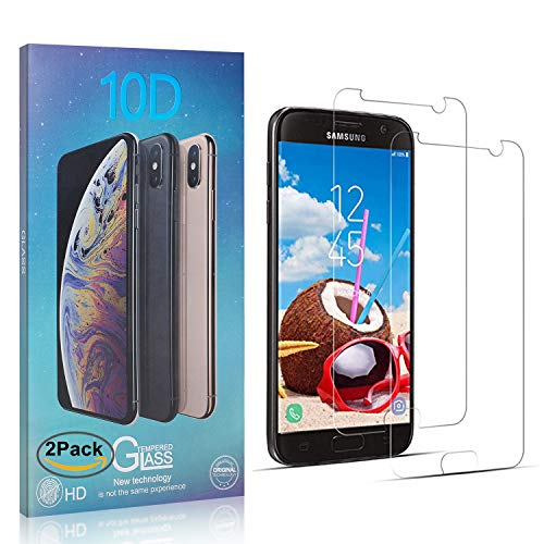 NBKASE Pellicole Protettive per Samsung Galaxy S7, [2 Pezzi]Alta Definizione Protezione Schermo Vetro Temperato Screen Protector per Galaxy S7