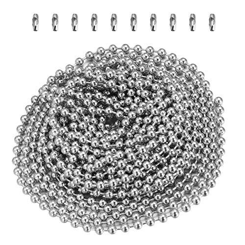 OUNONA Catena a palline per Collana Catena Decorativa Perline con 10 fermagli a catena