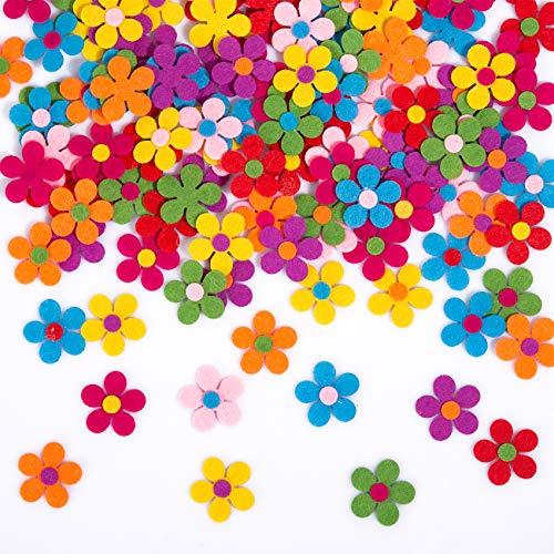 Naler 120 Fiori di Feltro per Decorazioni Colorate Margherite di Feltro per Fai da Te Decorazioni di Abbigliamenti, Scrapbooking 2