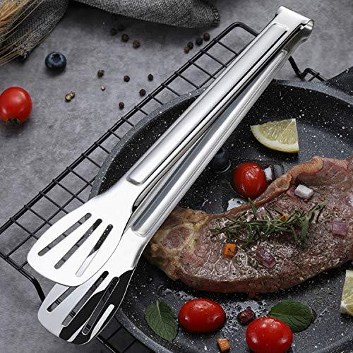 Digead Pinze per Barbecue, Pinze Acciaio Inox, Pinze da Cucina Premium in Acciaio Inossidabile 7