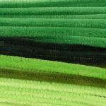 Vaessen Creative collegamento ciniglia, Nylon, Verde, 0,8x 30cm