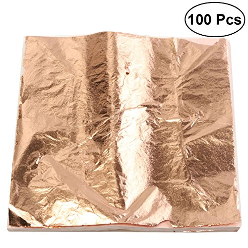ULTNICE Foglio di fogliame d'oro per fogli d'oro per fogli d'arte per arti artigianali (colore di rame) 2