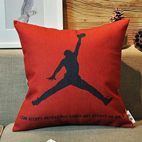 Kenneth case, copricuscini con Michael Jordan per i fan del basket, copricuscini da 45,7 x 45,7 cm (un lato), personalizzabili