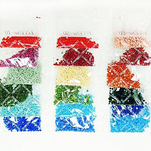 MXJSUA DIY 5D Diamante Pittura Completa Rotonda Kit di Punte Strass Immagine Art Craft per la Decorazione della Parete di casa 35×35 cm Albero di Amore 10