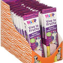 Hipp Barrette Viva la Frutta Banana, lamponi e cereali – 22 barrette da 23 g
