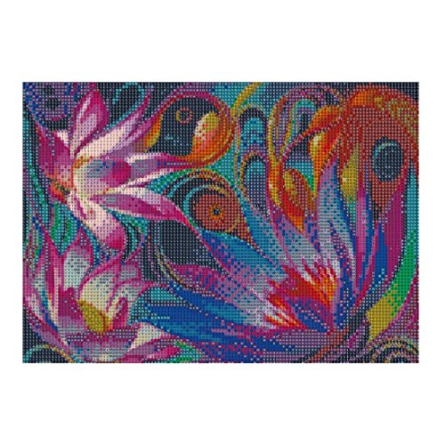 5D Diamond Painting kit completo drill DIY strass ricamo a punto croce Craft Arts for home Wall Decor Colorful Lotus 30x 40cm,pittura diamante diy 4