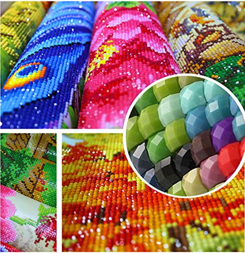 5D Diamond Painting kit completo drill DIY strass ricamo a punto croce Craft Arts for home Wall Decor Colorful Lotus 30x 40cm,pittura diamante diy 6