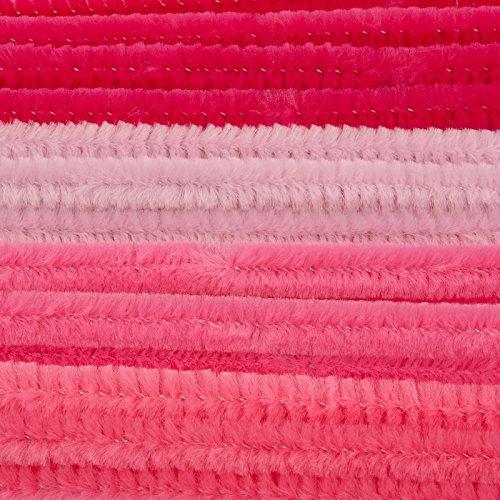 Vaessen Creative collegamento ciniglia, Nylon, Rosa, 0,8x 30cm