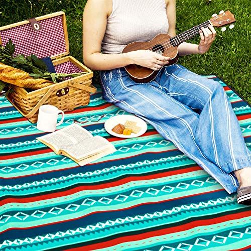 YZCX Coperta da Picnic Spiaggia Extra Grande 210x200cm Impermeabile Durevole Portatile Leggero Tappeto per PIC-nic, Spiaggia, Escursionismo, Campeggio, Parcheggio, Viaggi ECC (210×200 CM)