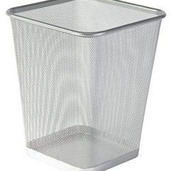 Osco – Cestino per rifiuti, in rete, colore: argento 2
