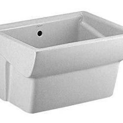 DOLOMITE serie Messico Due J085600 SOLO Lavatoio sospeso 75×61 in ceramica bianco europeo