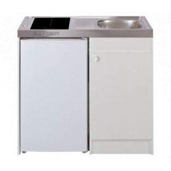 Mezieres – Lavello cucina + DOMINO VITRO_M Larghezza 100 cm con frigorifero DF114