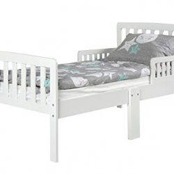 Leomark Modern Letto per Bambini in Legno con Barre, Dimensioni del Materasso 140×70 cm + Materasso Bianco