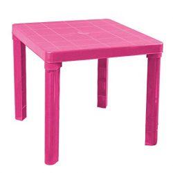 Zeus Party Tavolino in plastica Rigida 50 x 50 per Interni/Esterni Vari Colori (Rosa)