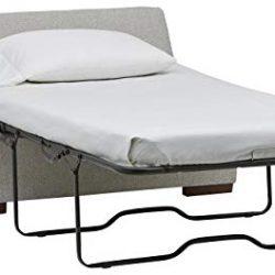 Marchio Amazon –Rivet, ottomana a divano-letto, stile moderno, larghezza 122 cm, colore grigio chiaro