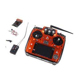 Lorenlli Fit Radiolink AT10II 2.4G 12CH Telecomando trasmettitore con Ricevitore R12DS RPM-01 Modulo di Ritorno Tensione per RC Drone Quadcopter