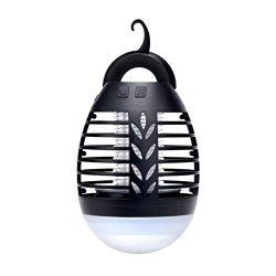 JANEFLY Estate di Campeggio della zanzara della casa della Lampada Esterna elettrica Lanterna Trappola Impermeabile della zanzara di Ricarica USB Anti Mosquito
