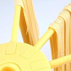 Stendino pieghevole per pasta – Stendino per pasta con essiccatore per noodle domestico da 10 bar – Compatto Facile da riporre Installazione rapida (giallo) 10