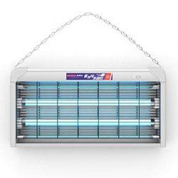 ZRSZ Lampada di Disinfezione UV Domestica, Ozono UV Doppia Sterilizzazione Sterilizzatore Mobile Riduzione Dell'eliminazione Dell'odore 20w, Commutazione Fasatura