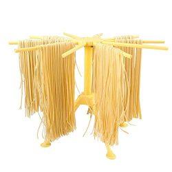 Stendino pieghevole per pasta – Stendino per pasta con essiccatore per noodle domestico da 10 bar – Compatto Facile da riporre Installazione rapida (giallo)