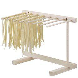 Essiccatore Pasta Fresca in Legno, Utensile da Cucina per Essiccare La Pasta, 8 Bracci Stendi Pasta, Essiccatore Richiudibile, Legno di Faggio