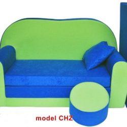 ItalPol Produkt Divano divanetto bambini e cuscino e puff mini divano transformabile in lettino.