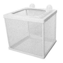 Amoyer Telaio in Plastica Accessori per La Net Pesci Acquario Mesh Net Allevatore Pratica Fish Tank Accessori Acquario Domestico Gadgets Bianco