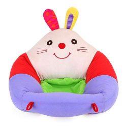 JUMOWA – Sedia di Supporto per Bambini, con Cuscino di Protezione Coniglio