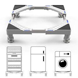 Dewel Base Lavatrice Supporto Lavasciuga 44.8 ~ 69 cm regolabile con 4 piedini in gomma resistente