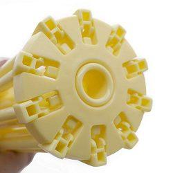 Stendino pieghevole per pasta – Stendino per pasta con essiccatore per noodle domestico da 10 bar – Compatto Facile da riporre Installazione rapida (giallo) 7