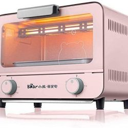 ZY Il Pane Forno Elettrico Cottura Domestici Mini Forno 9 Litri capacità Possono Essere regolati Regolarmente-Blue (Color : Pink)