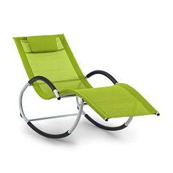 blumfeldt Westwood – Sedia a Dondolo, Ergonomica, Materiale: Comfort Mesh 70% PVC + 30% Poliestere, Ergo Comfort, Telaio in Alluminio, Cuscino Incluso, Verde