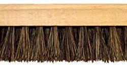 DELARA Due grandi spazzole per lucidatura, in legno, con manico sagomato; setole morbide in crine di alta qualità, colori marrone e nero